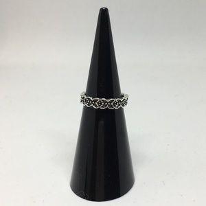 Jewelry - Flower geometric moon pattern midi ring